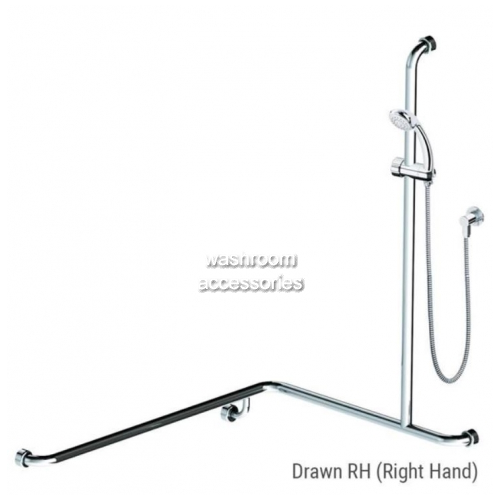 View HS01813 Shower Rail Kit 13 Right Hand details.