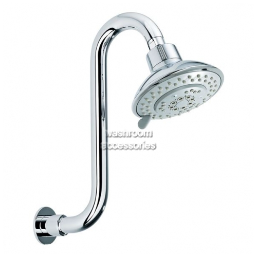 View OH001E Shower Head Swan Neck details.