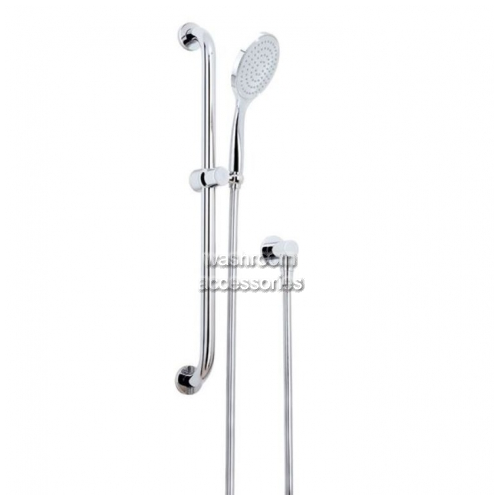 View HS014X StreamjetXL Shower Head and Rail details.