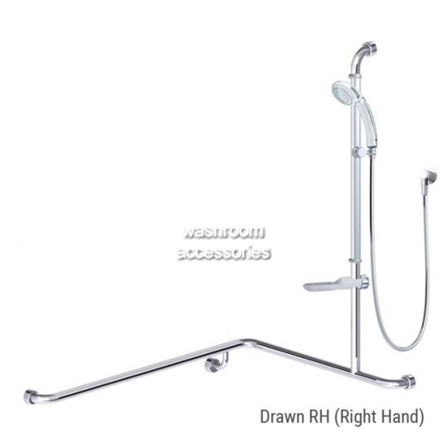 View GB711P Princess Shower Kit, Rail, Head, Soap Dish, Right Hand details.