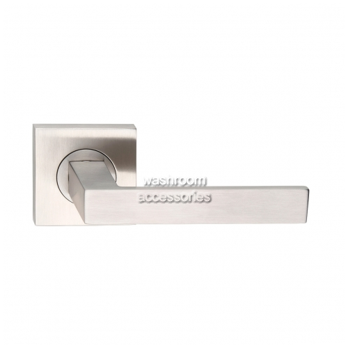 View L100Z Door Handle Square Rose, Single details.