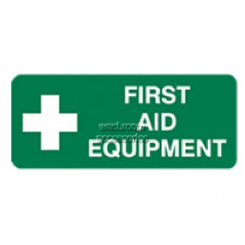 View First Aid Equipment Sign details.