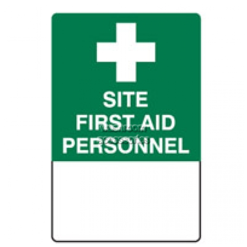 View Site First Aid Personnel Sign details.