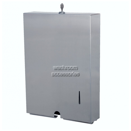 View A-855 Paper Towel Dispenser Slimline details.