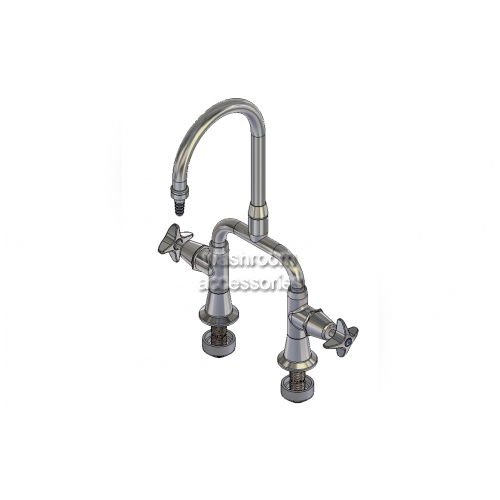 View LF107 Mixing Set Swivel Outlet, Jumper Valve details.