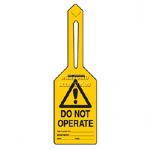 View Brady 847204 Warning Do not Operate Lockout Tagout details.