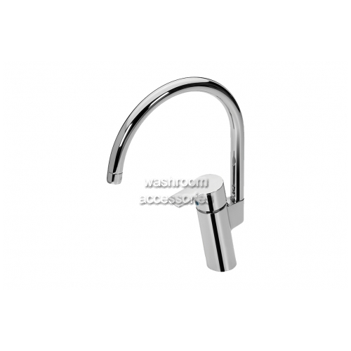 View Sink Mixer with Gooseneck Spout, Aerated details.
