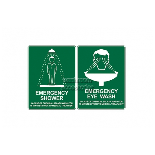 View Combination Shower and Eye Wash Sign details.