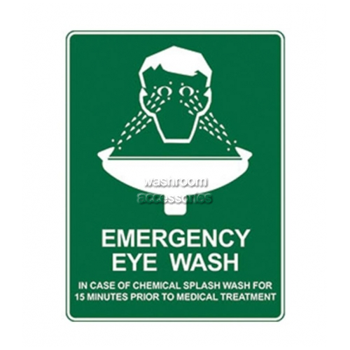 View Eye Wash Sign details.