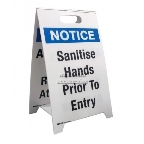 View Floor Stand - Sanitise Hands Prior to Entry/All Visitors Must Register at Office details.