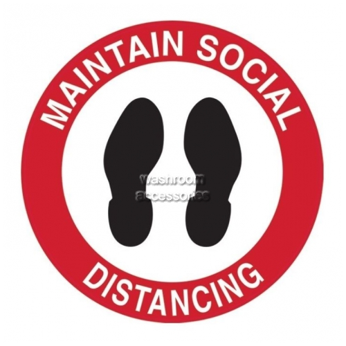 View Maintain Social Distancing with Footprint Picto details.