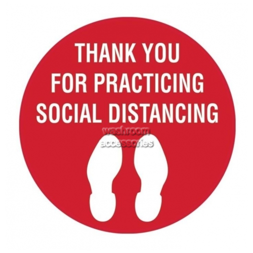 View Thank Your For Practicing Social Distancing with Footprint Picto details.
