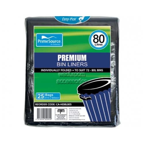 View Easy-Pick Bin Liners 80L details.