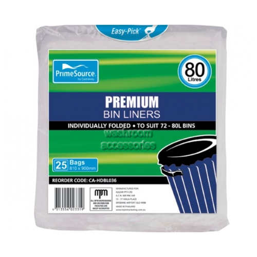 View Easy-Pick Garbage Bags 80L details.
