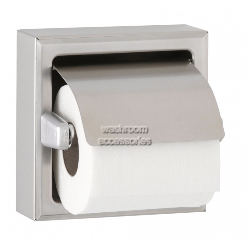 View B66997 Single Toilet Roll Dispenser with Hood details.
