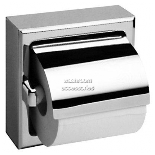 View B6699 Single Toilet Roll Dispenser with Hood details.