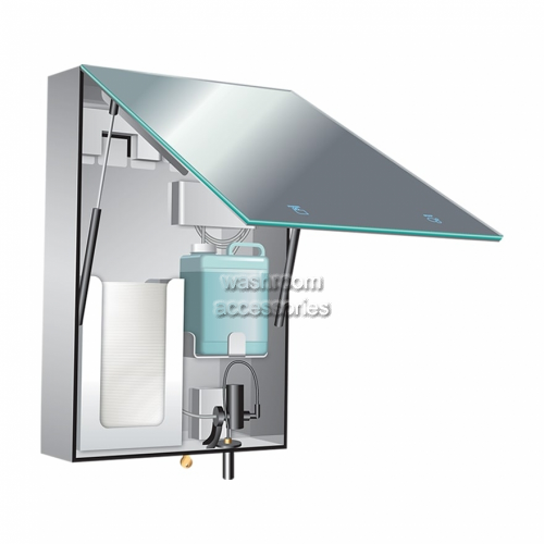 View BTM Cabinet with Mirror, Liquid Dispenser and Towel Dispenser details.