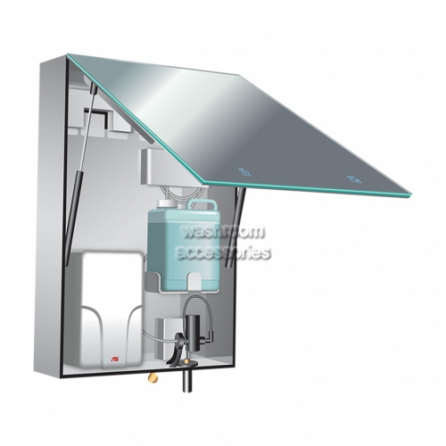 View BTM Cabinet with Mirror, Foam Dispenser and Dryer details.