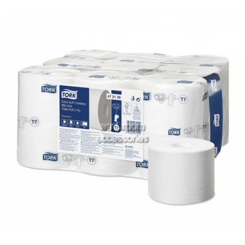 View Extra Soft Coreless Mid-Size Toilet Roll 550 sheets details.