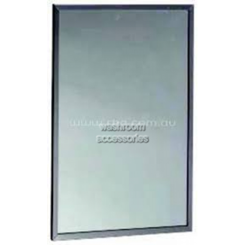 View RBA8117-777-001 Vandal Resistant Stainless Steel Mirror 991mm x 406mm details.