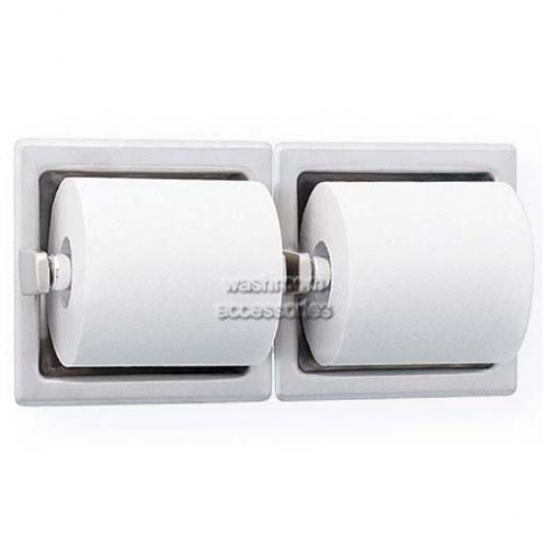 View 5124 Double Toilet Roll Holder, Recessed details.