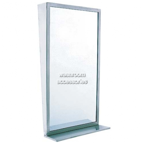 View 7405 Glass Tilt Mirror with Shelf details.