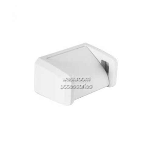 View 5044 Single Toilet Roll Holder, Hooded details.