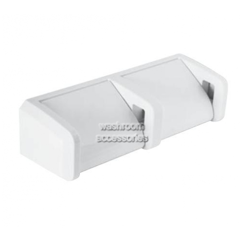View 5244 Double Toilet Roll Holder, Hooded details.