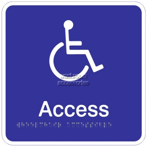 View Access and Wheelchair Access Acrylic Braille Sign details.