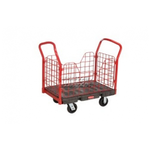 View 4484 Side Panel Platform Truck, Small, Caged details.