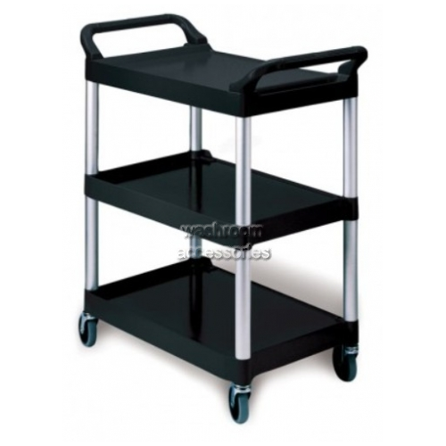 View 3424 Utility Cart, 3-Shelf, Swivel Castors details.