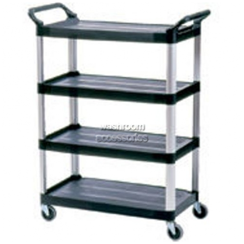 View 4096 Xtra 4-Shelf Cart, Open Sided details.